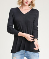 Shamaim Women's Pullover Sweaters black - Black Crisscross-Back Sweater - Women