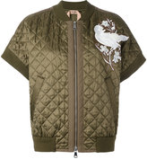 No.21 shortsleeved quilted bomber jacket