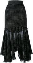 Dolce & Gabbana polka-dot skirt - women - Polyester/Silk/Spandex/Elastane - 40