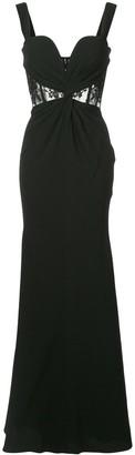 Alexander McQueen lace panel crepe gown