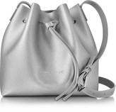Lancaster Paris Pur & Element Silver Saffiano Leather Mini Bucket Bag