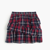 J.Crew Girls' ruffle skirt in sparkle plaid
