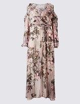 Marks and Spencer Floral Print Cold Shoulder Maxi Dress