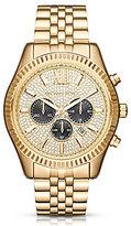 Michael Kors Lexington Pav -Dial Chronograph & Date Bracelet Watch