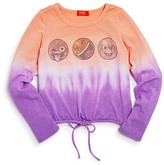 Butter Shoes Girls' Emoji Malibu Dip-Dye Sweater - Big Kid