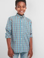 Gap Check poplin button-down shirt