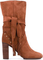 See by Chloe studded tie boots