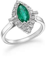 Bloomingdale's Emerald Marquise & Diamond Statement Ring in 14K White Gold - 100% Exclusive