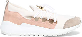 Buscemi Color-block Neoprene And Suede-paneled Sneakers