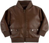 Andy & Evan Faux Leather Jacket (Toddler/Kid) - Brown-6