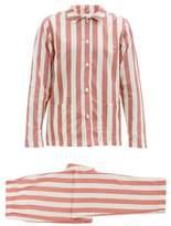 Nufferton - Uno Stripe Cotton Pyjamas - Mens - White Multi