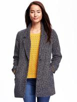 Old Navy Animal-Patterned Wool-Blend Coat for Women