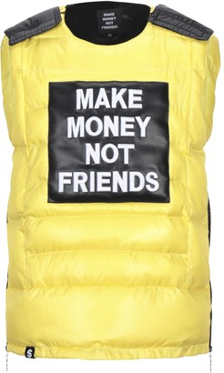 MAKE MONEY NOT FRIENDS Synthetic Down Jackets