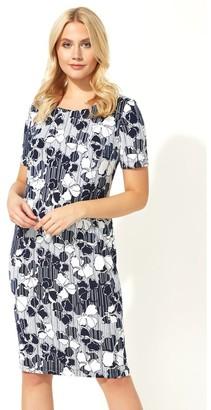 M&Co Roman Originals floral stripe print shift dress