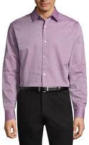 Claiborne Long Sleeve Pattern Button-Front Shirt