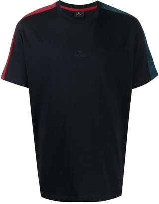 Paul Smith stripe-shoulder oversized T-shirt