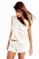 Wildfox Couture Sun Bleached Heart Chad Tank in Vintage Lace