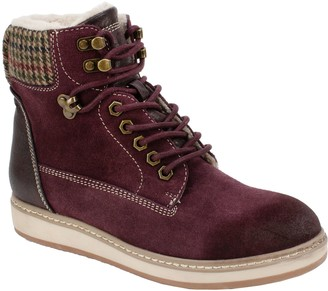 White Mountain Lace Up Ankle Hiker Boots - Theo