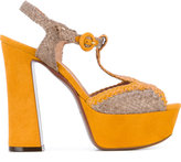 L'Autre Chose woven platform sandals - women - Goat Skin/Leather - 36