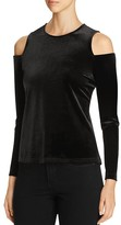 Calvin Klein Velvet Cold Shoulder Top