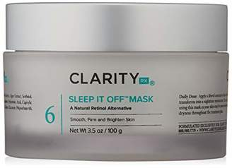 ClarityRx Sleep It Off Mask - Skin Transforming Anti-Aging Overnight Face Mask with Natural Retinol Alternative Green Algae Extract