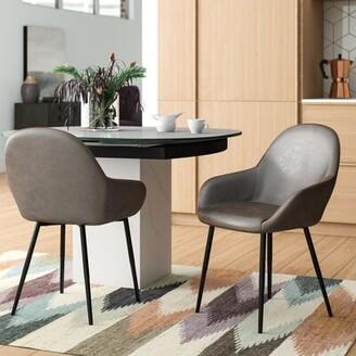Corrigan Studio Zosia Mid Century Modern Upholstered Dining Chair Upholstery Color: Dark Gray