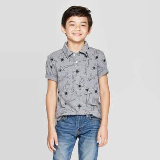 Cat & Jack Boys' Short Sleeve Polo Shirt - Cat & JackTM Charcoal