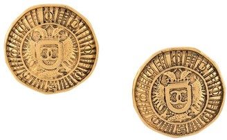 Chanel Pre Owned 1990s Coat Of Arms Button Earrings