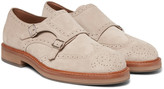 Brunello Cucinelli - Suede Monk-strap Shoes