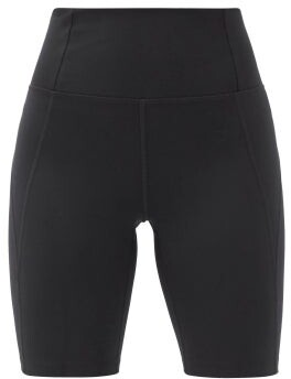 Girlfriend Collective High-rise Recycled-fibre Bike Shorts - Black