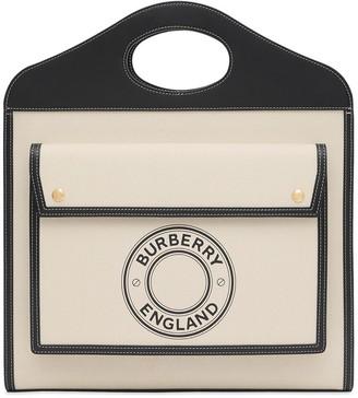 Burberry logo graphic Pocket tote bag