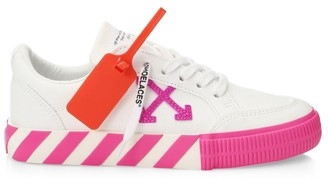Off-White Arrow Low-Top Neon Canvas Sneakers