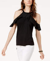 INC International Concepts I.N.C. Cold-Shoulder Halter Top, Created for Macy's