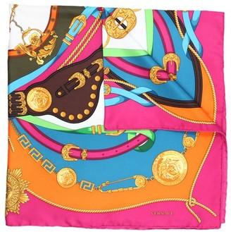 Versace printed square scarf
