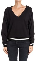 Twin-Set Women's Black Cotton Sweatshirt.