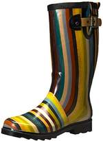 Chooka Womens Inlaid Stripe Rain Boot