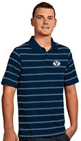 Antigua Men's BYU Cougars Deluxe Striped Desert Dry Xtra-Lite Performance Polo