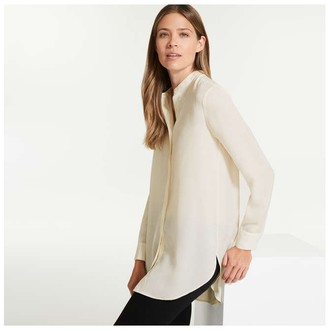 Joe Fresh Women's Mandarin Collar Tunic, Cream (Size XL)
