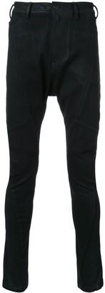 Julius Coated Drop-Crotch Jeans