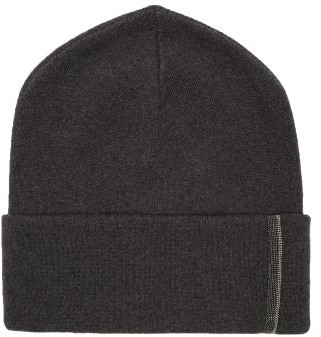 Brunello Cucinelli Beaded Cashmere Beanie - Womens - Black