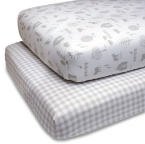 The Peanut Shell Ps by The Grey Farmhouse Fitted Crib Sheet 2-Pack Bedding