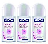 Nivea Deodorant Roll-on, 1.7 Fluid Ounce (PEARL & BEAUTY, PACK OF 3)