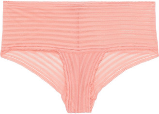 Cosabella Sweet Treats Shadow Stripe Stretch-lace Low-rise Briefs