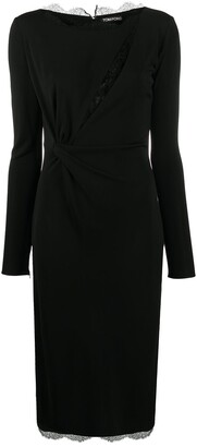 Tom Ford Lace Detail Fitted Dress