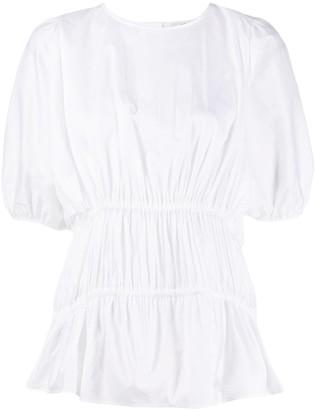 Victoria Victoria Beckham Short Sleeved Gathered Blouse