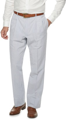 Men's Palm Beach Oxford Classic-Fit Seersucker Pleated Suit Pants