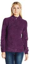 Alfred Dunner Women's Classic Quarter Zip Chenille Sweater
