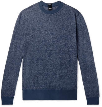 HUGO BOSS Franio Melange Cotton And Linen-Blend Sweater