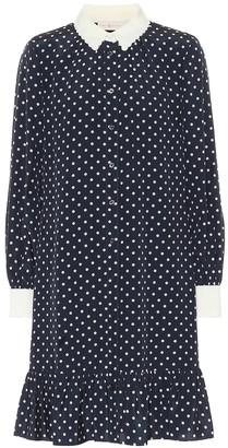 Tory Burch Cora dotted silk mini shirt dress