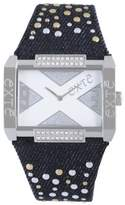 Exte Women's EX.4032M/06Z Black Canvas Band watch.